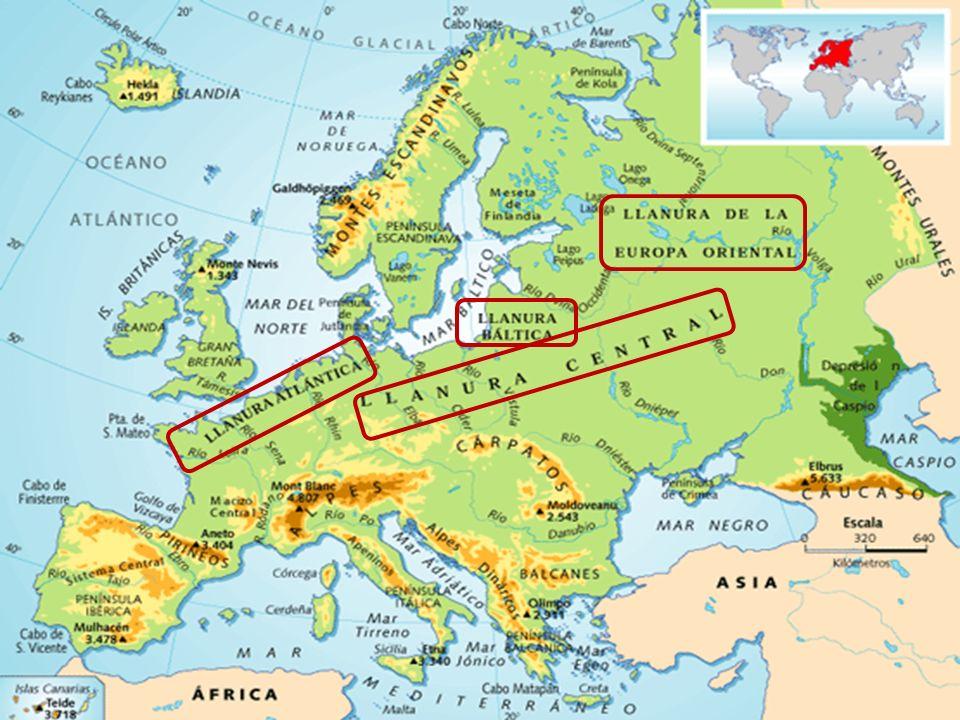 DESTACAN SUS GRANDES LLANURAS: EJEMPLOS: LA LLANURA ATLÁNTICA LA LLANURA BÁLTICA LA LLANURA DE EUROPA ORIENTAL