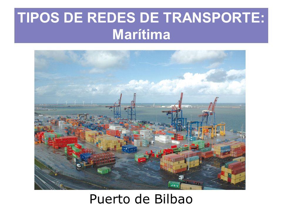 Puerto de Bilbao TIPOS DE REDES DE TRANSPORTE: Marítima