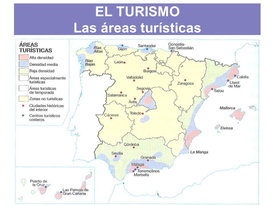 EL TURISMO Las áreas turísticas