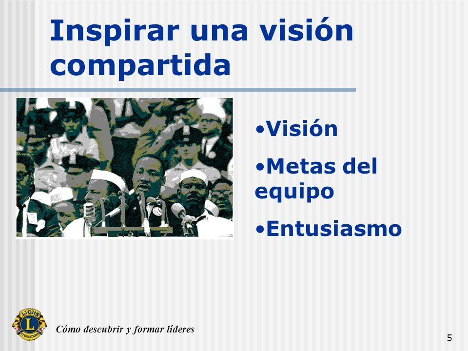 Cómo descubrir y formar líderes 5 Inspirar una visión compartida Visión Metas del equipo Entusiasmo