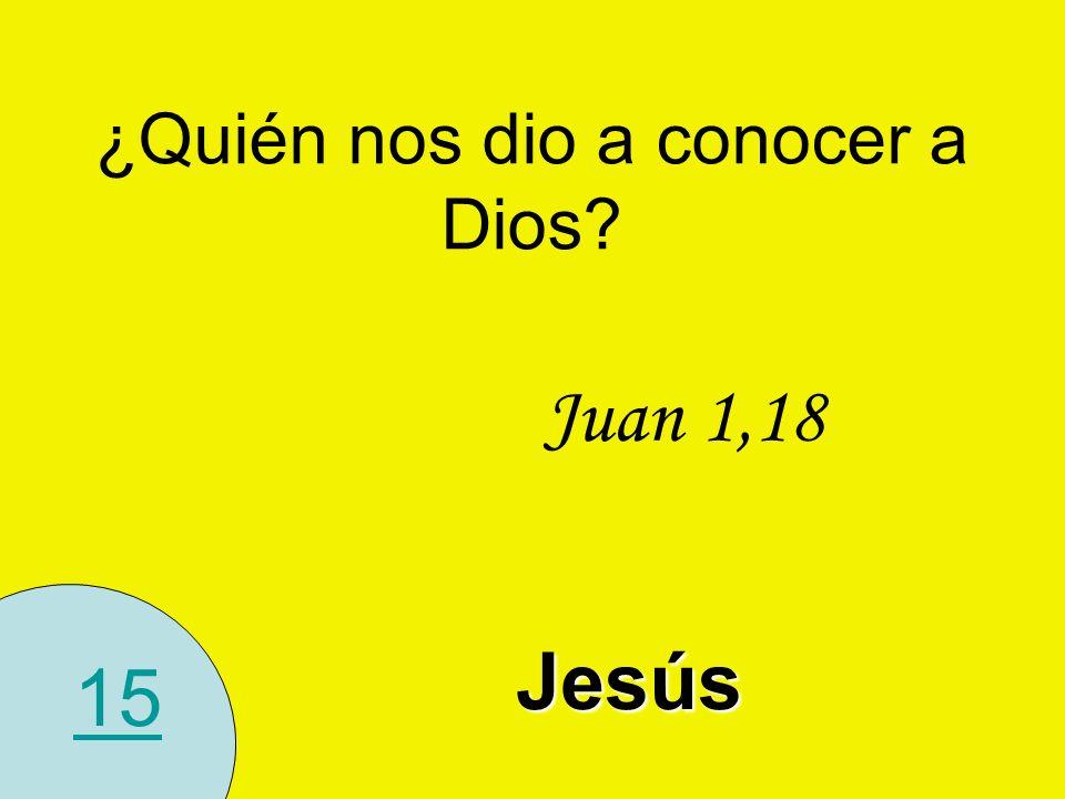 15 ¿Quién nos dio a conocer a Dios? Juan 1,18 Jesús
