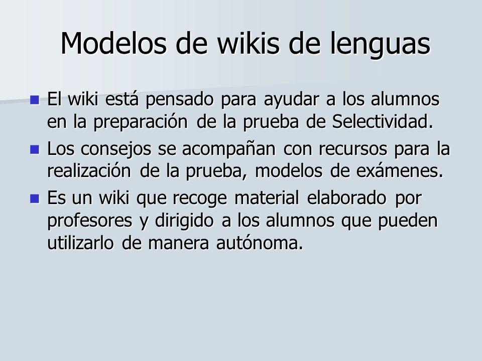 El wiki está pensado para ayudar a los alumnos en la preparación de la prueba de Selectividad. El wiki está pensado para ayudar a los alumnos en la pr