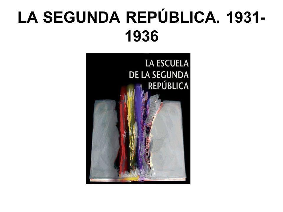 LA SEGUNDA REPÚBLICA. 1931- 1936