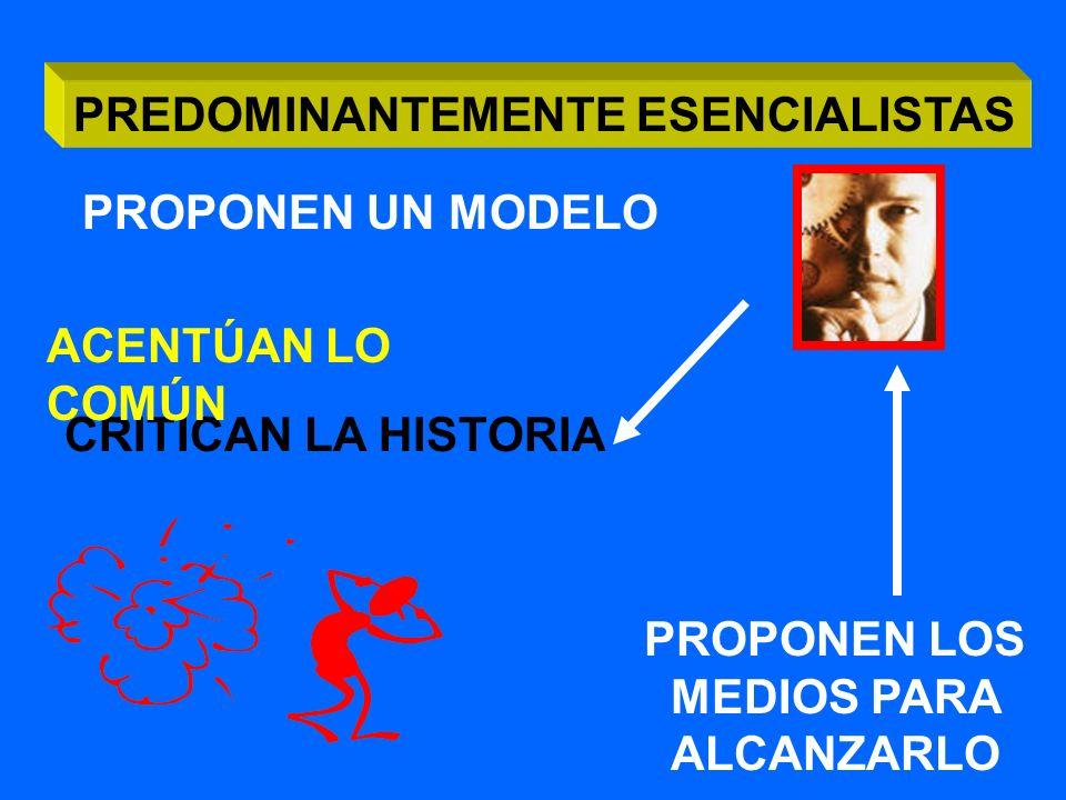 ANTROPOLOGÍAS CONTEMPORÁNEAS PREDOMINANTEMENTE ESENCIALISTAS PREDOMINANTEMENTE EXISTENCIALISTAS
