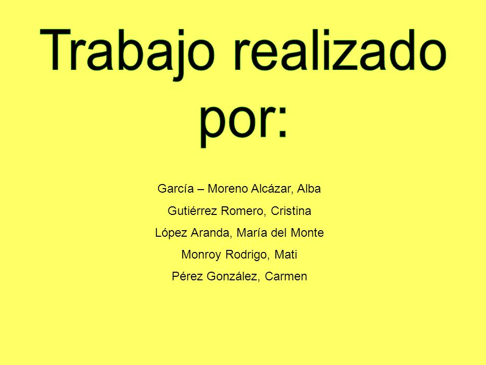 García – Moreno Alcázar, Alba Gutiérrez Romero, Cristina López Aranda, María del Monte Monroy Rodrigo, Mati Pérez González, Carmen