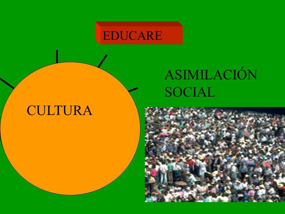 EDUCARE CULTURA ASIMILACIÓN SOCIAL HETEROEDUCACIÓN ADAPTACIÓN