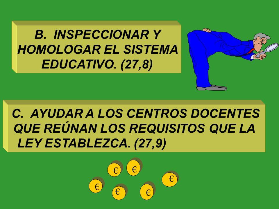 Funciones de los poderes públicos respecto a la educación A.GARANTIZAREL DERECHO DE TODOS A LA EDUCACIÓN MEDIANTE UNAPROGRAMACIÓN GENERAL DE LA ENSEÑA
