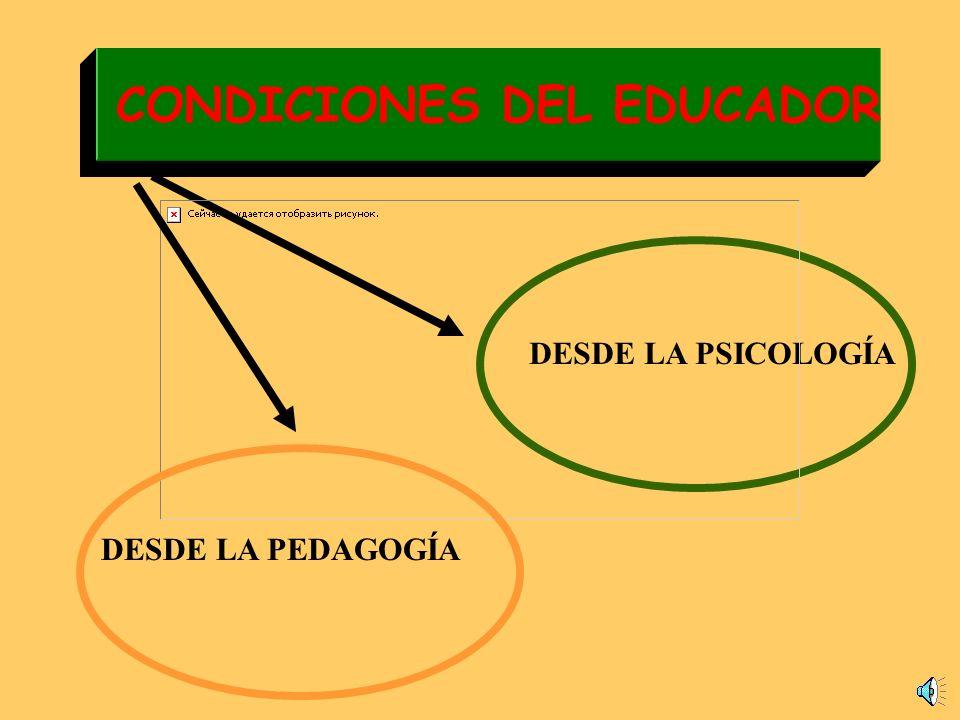 EL EDUCADOR MAESTRO DELEGADO DE LAS INSTITUCIONES EDUCADOR PROFESIONAL FORMACIÓN BÁSICA ESPECIALIZACIÓN FORMACIÓN PERMANENTE