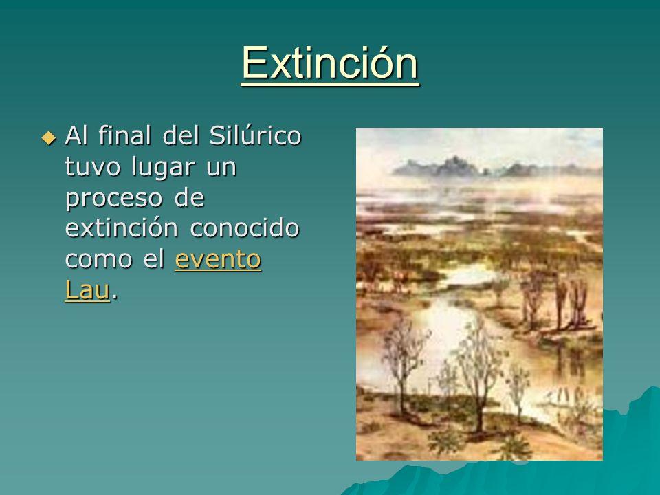 Extinción Al final del Silúrico tuvo lugar un proceso de extinción conocido como el evento Lau. Al final del Silúrico tuvo lugar un proceso de extinci