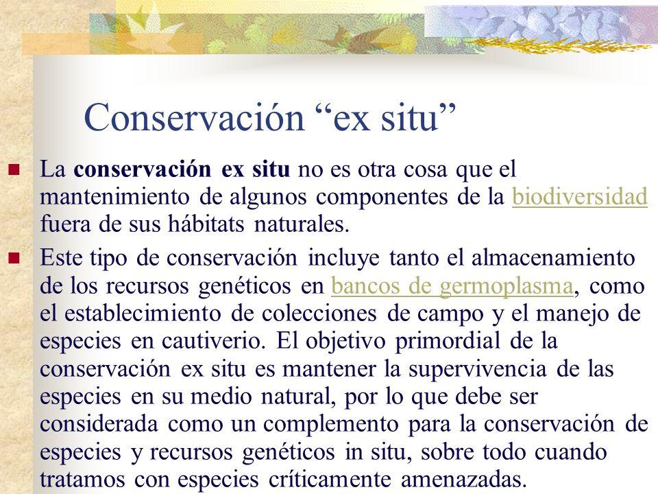 hotspots Zonas dotadas de una extraordinaria concentración de especies que están sometidas a una perdida excepcional de habitats. (ej. La Cuenca Medit