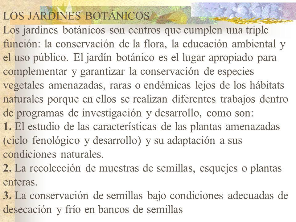 Existen dos tipos de conservación ex situ: 1.Bancos de germoplasma en donde se conservan las especies para la alimentación y la agricultura. 2.Centros