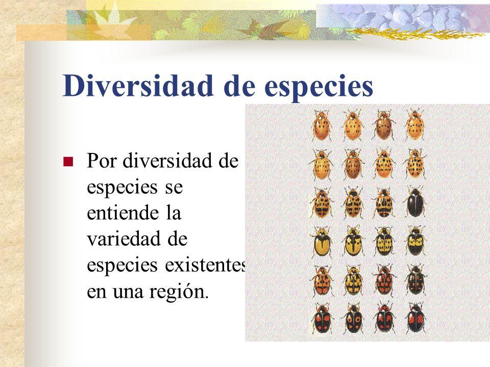 hotspots Zonas dotadas de una extraordinaria concentración de especies que están sometidas a una perdida excepcional de habitats.