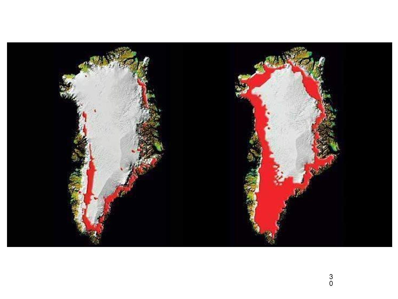 30 Groenlandia imágenes de satélite 19922005