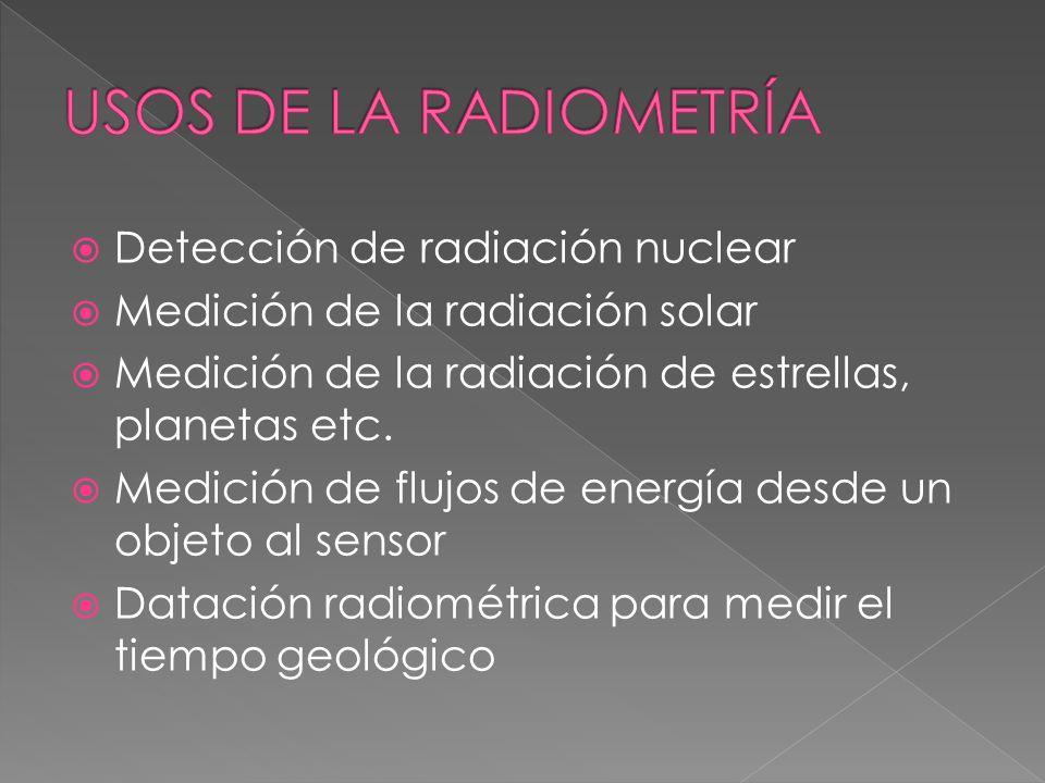 Es la parte de la Física que mide la intensidad de las radiaciones electromagnéticas y su transferencia desde la fuente al detector. Cuando la radiaci