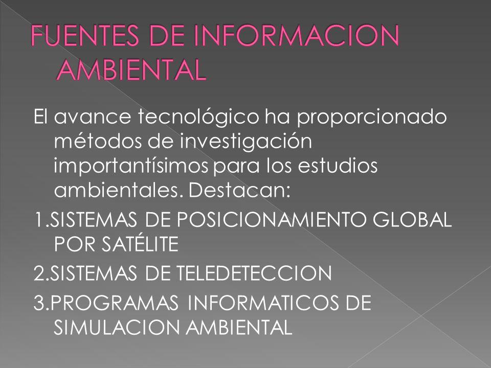 Unidad Docente 2. Nuevas tecnologías para la investigación del medio ambiente: fuentes de información ambiental 1. Sistemas de posicionamiento por sat