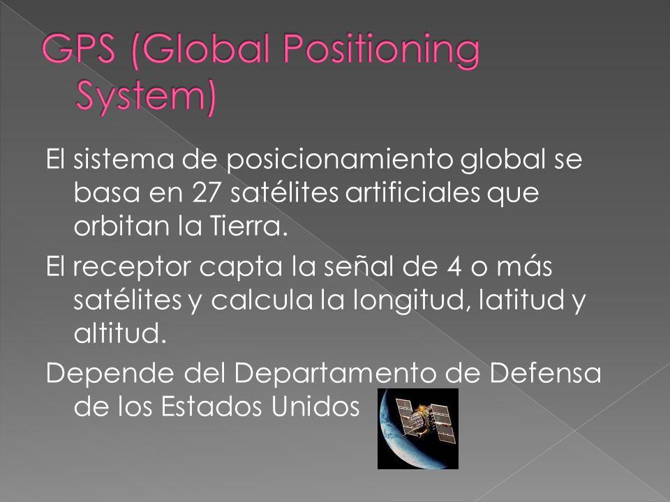 Sirven para establecer la posición de un objeto en cualquier lugar del planeta Se fundamentan en una red de satélites en órbita a 20.000 km. de altura