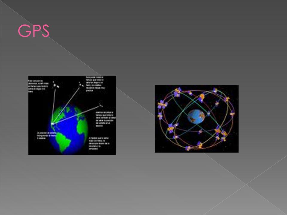 El sistema de posicionamiento global se basa en 27 satélites artificiales que orbitan la Tierra. El receptor capta la señal de 4 o más satélites y cal