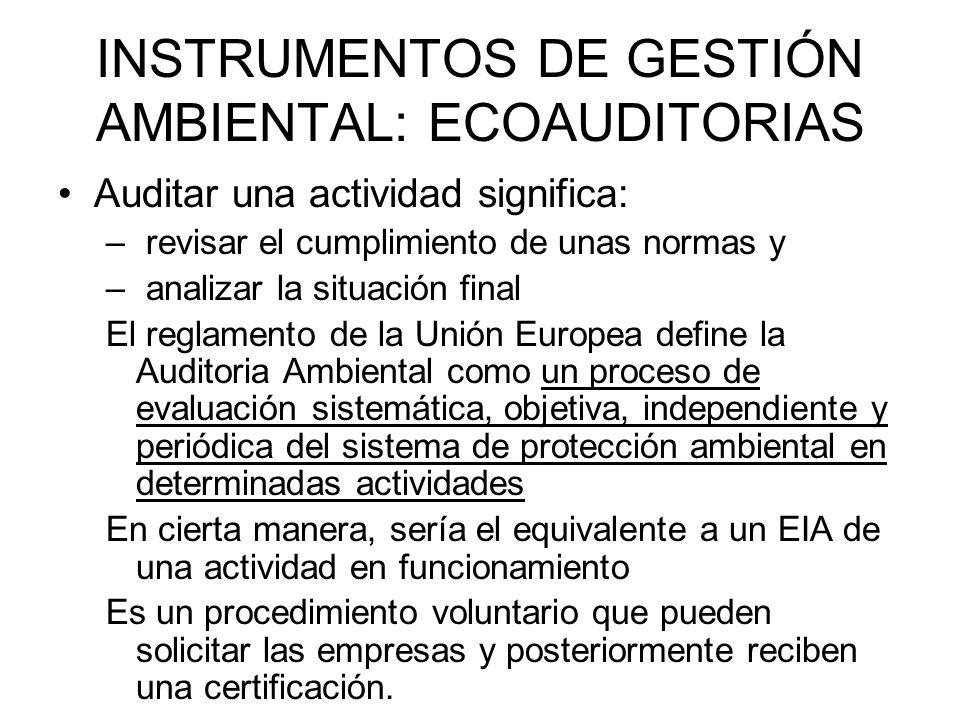 ETIQUETA ECOLÓGICA Junto a la Ecoauditoria es un proceso voluntario cuyo objetivo es fomentar la gestión ambiental en las empresas.