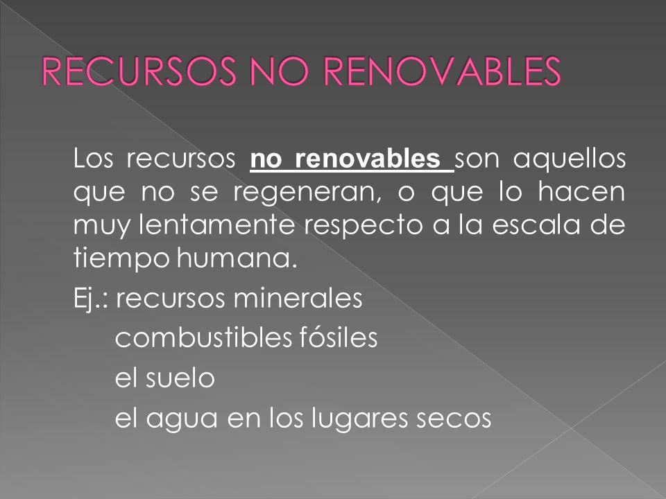 Son renovables aquellos recursos que se regeneran a una velocidad similar a la que se consumen. A escala de tiempo humana, estos recursos son inagotab