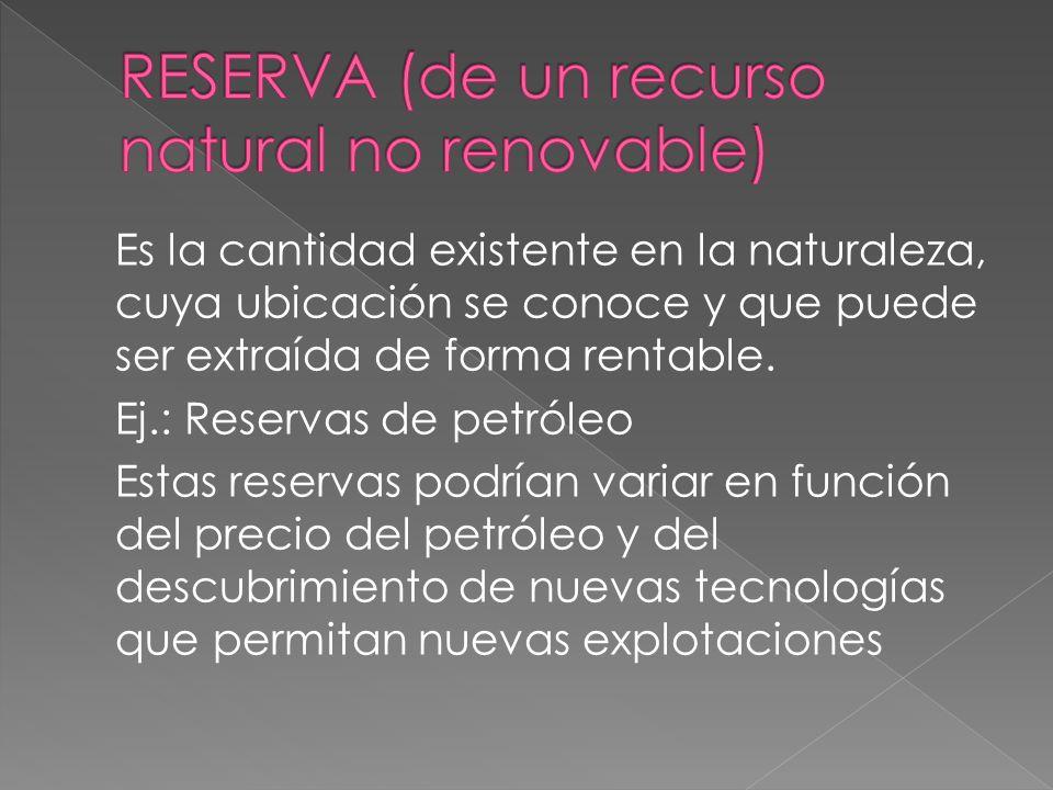 Los recursos no renovables son aquellos que no se regeneran, o que lo hacen muy lentamente respecto a la escala de tiempo humana. Ej.: recursos minera