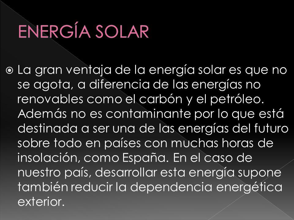 La energía solar también tiene sus inconvenientes, por ejemplo la disponibilidad de sol depende mucho de la región y de la época del año.