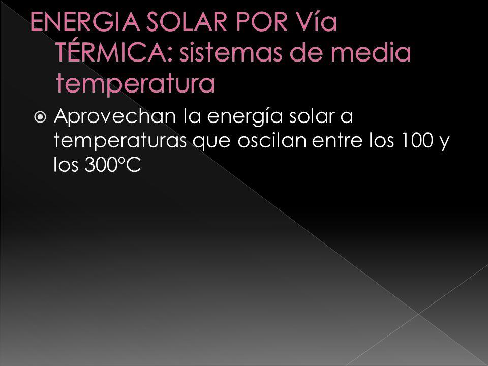 Se utilizan para aplicaciones que requieren temperaturas superiores a 300ºC, normalmente para producir energía eléctrica.
