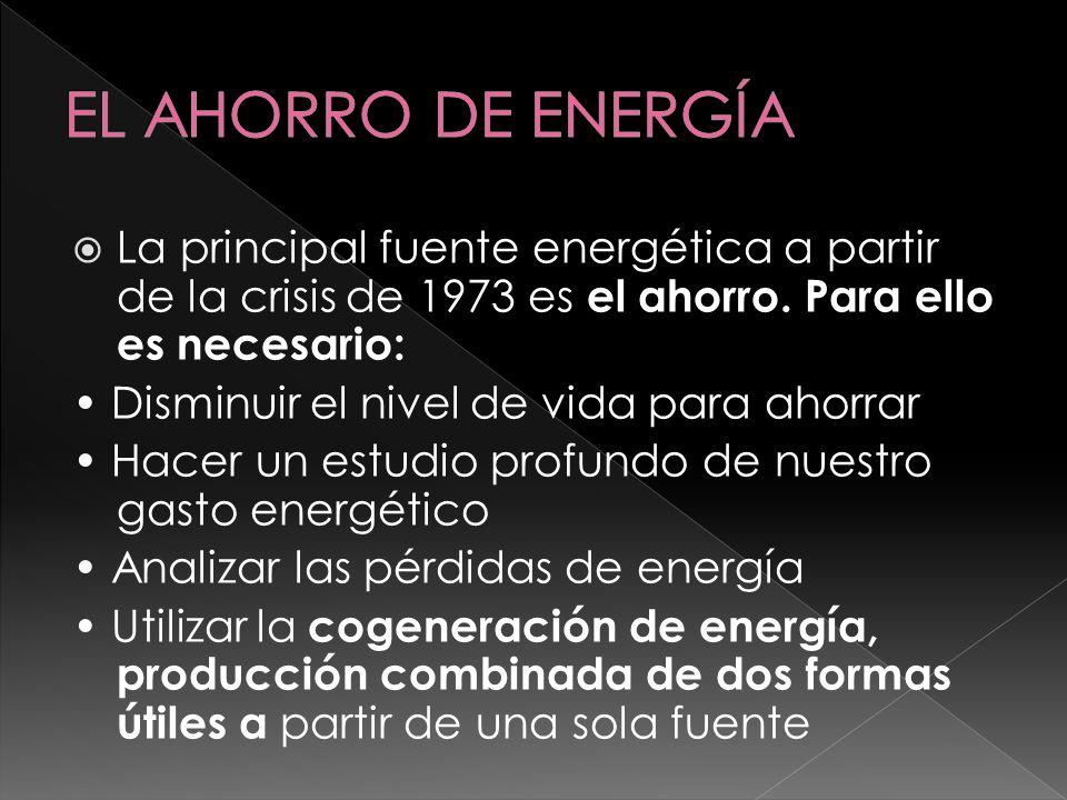1.)Aumentar eficiencia del sistema eléctrico (globalmente es del 33 % lo que obliga a generar el triple de energía de la que consumimos).