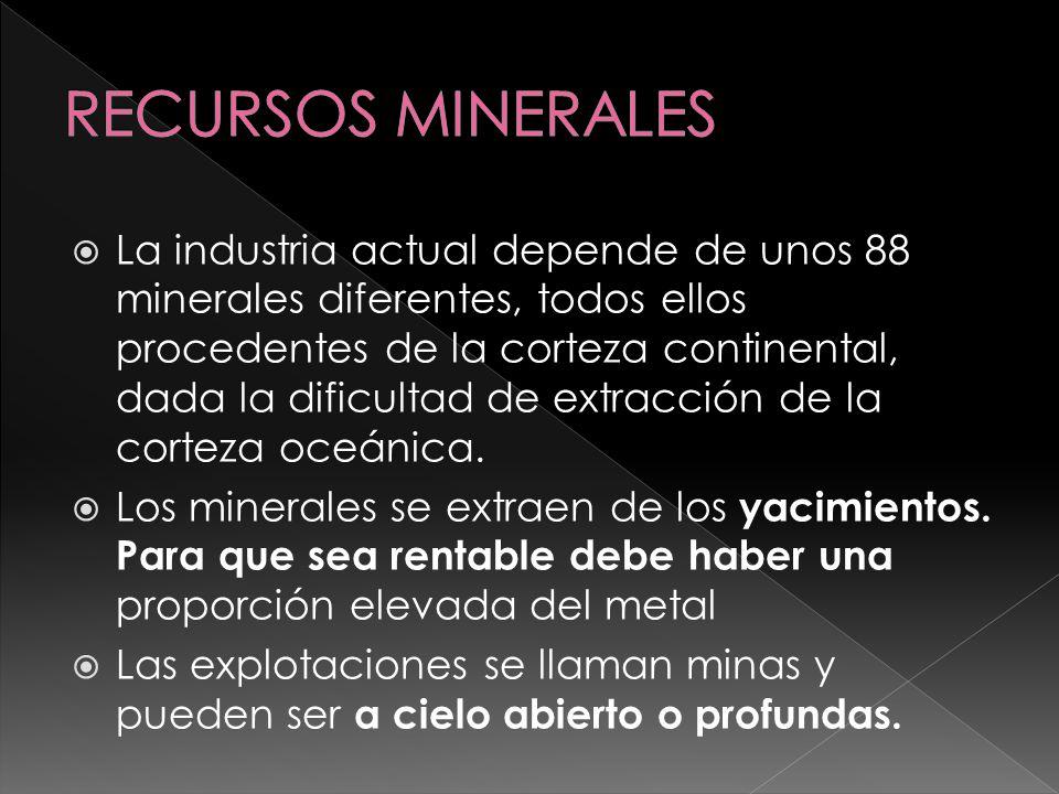 Mayor en el caso de la minería a cielo abierto, dado que se remueven grandes cantidades de tierra y que, una vez abandonada la explotación, quedan expuestas a una degradación total.