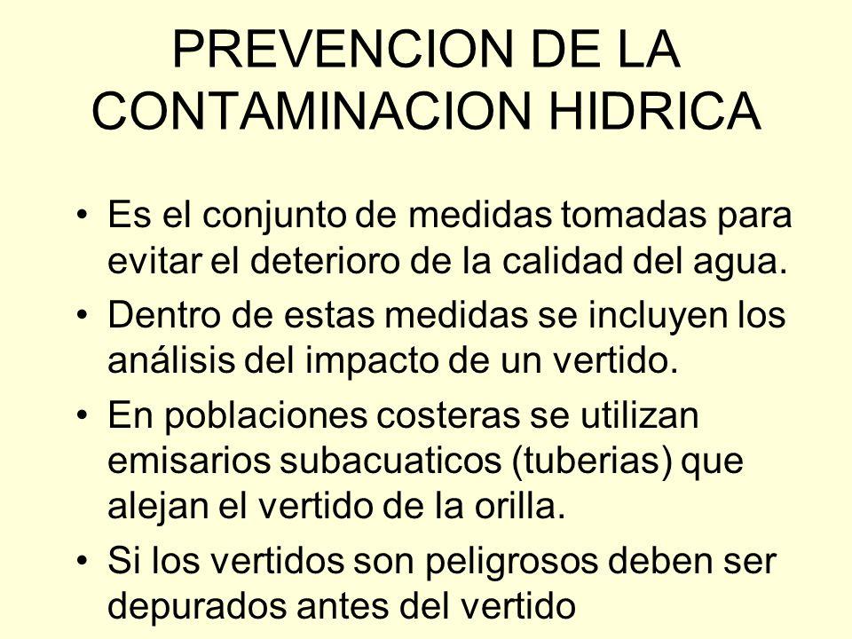 Control de calidad del agua para consumo El Ministerio de Sanidad ha creado el SISTEMA DE INFORMACION NACIONAL DE AGUA DE CONSUMO (SINAC) que recibe l