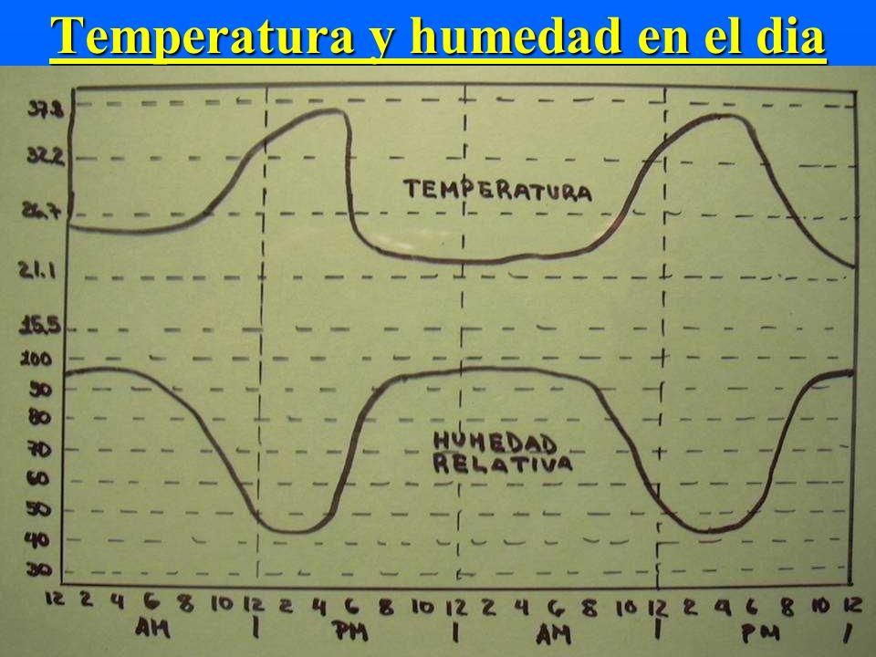 Temperatura y humedad en el dia