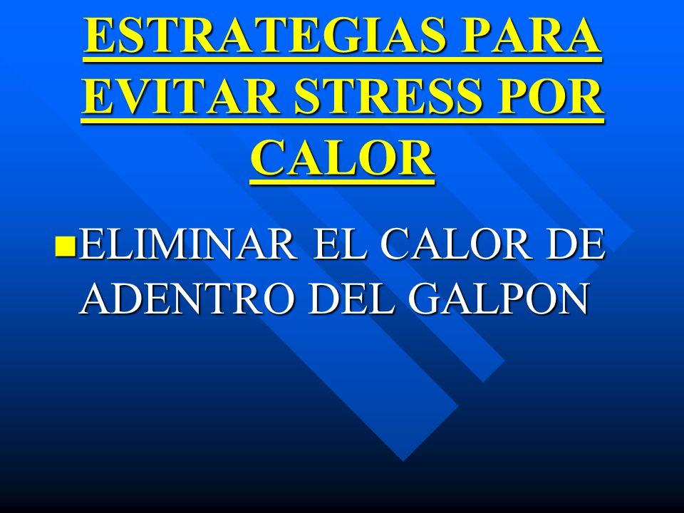 ESTRATEGIAS PARA EVITAR STRESS POR CALOR ELIMINAR EL CALOR DE ADENTRO DEL GALPON ELIMINAR EL CALOR DE ADENTRO DEL GALPON