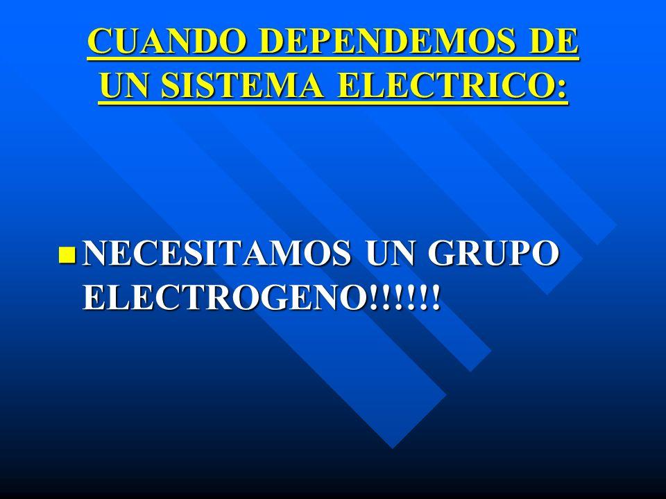 CUANDO DEPENDEMOS DE UN SISTEMA ELECTRICO: NECESITAMOS UN GRUPO ELECTROGENO!!!!!!
