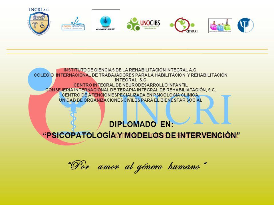 INSTITUTO DE CIENCIAS DE LA REHABILITACIÓN INTEGRAL A.C. COLEGIO INTERNACIONAL DE TRABAJADORES PARA LA HABILITACIÓN Y REHABILITACIÓN INTEGRAL S.C. CEN