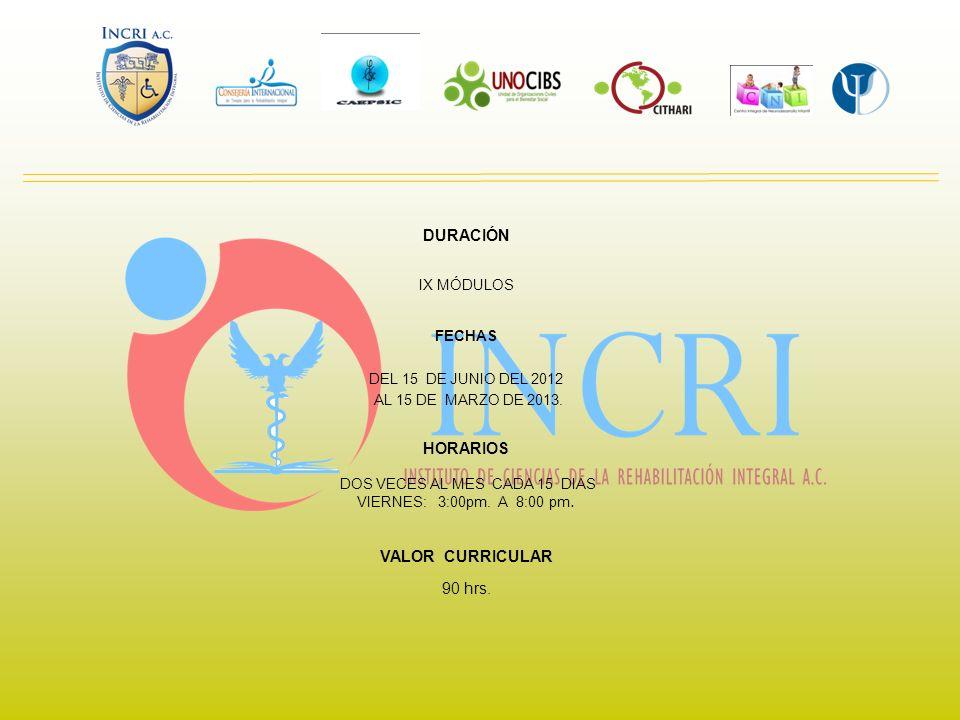 SEDE: INSTITUTO DE CIENCIAS DE LA REHABILITACIÓN INTEGRAL A.C.