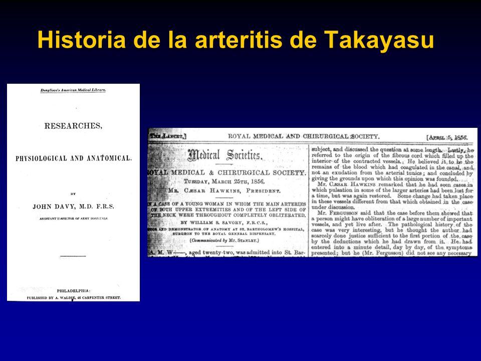 Historia de la arteritis de Takayasu