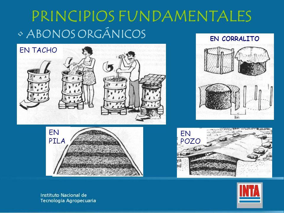 ABONOS ORGÁNICOS PRINCIPIOS FUNDAMENTALES EN TACHO EN CORRALITO EN POZO EN PILA
