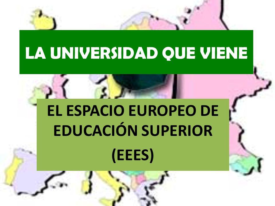 LA UNIVERSIDAD QUE VIENE EL ESPACIO EUROPEO DE EDUCACIÓN SUPERIOR (EEES)