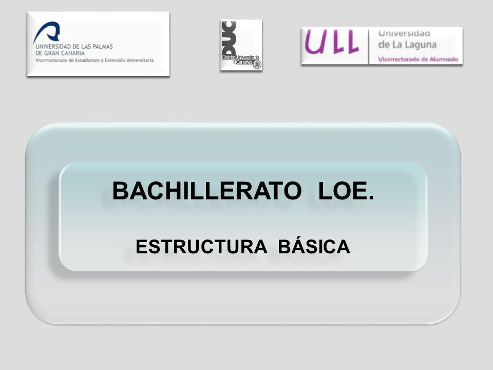BACHILLERATO LOE. ESTRUCTURA BÁSICA BACHILLERATO LOE. ESTRUCTURA BÁSICA