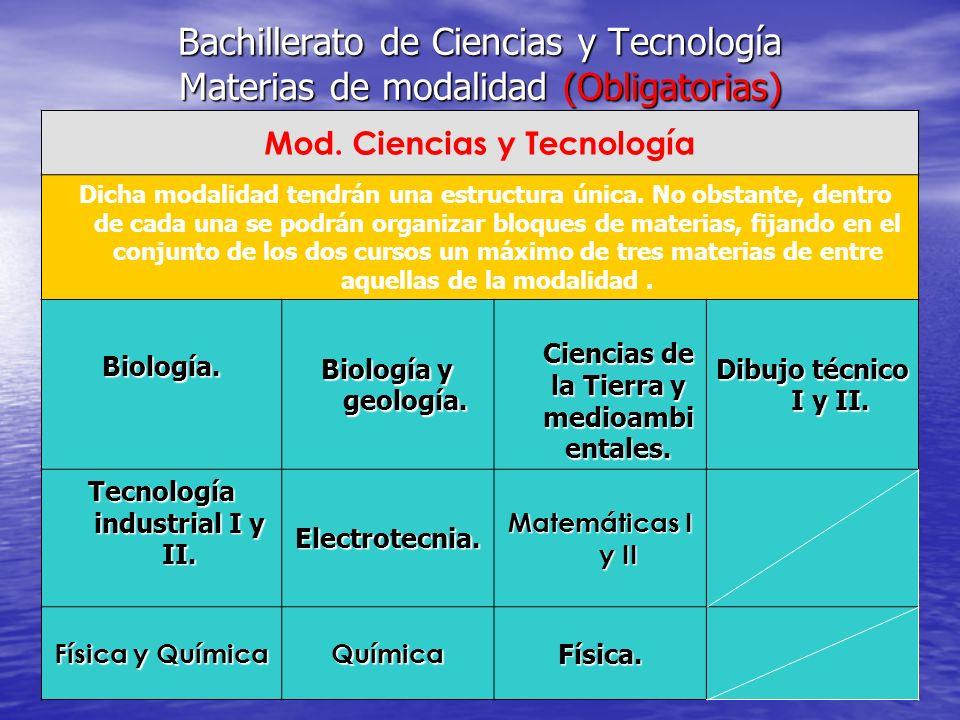 MATERIAS COMUNES Materias comunes para el Bachillerato Ciencias para el mundo contemporáneo.