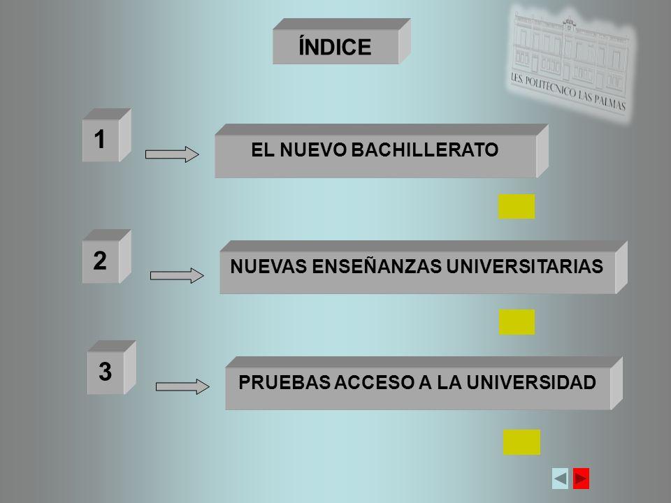 NUEVA ORDENACIÓN DE LAS ENSEÑANZAS UNIVERSITARIAS R.D.