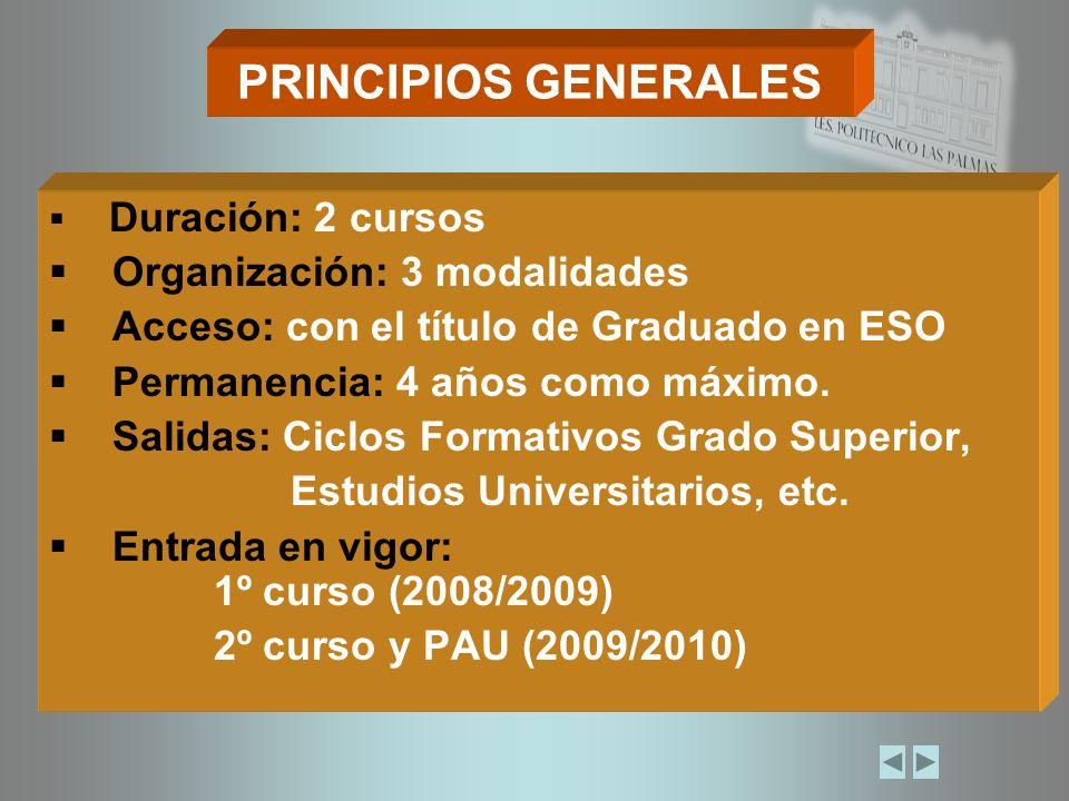 GENERAL ESTRUCTURA DE LAS PRUEBAS DE ACCESO A LA UNIVERSIDAD (LOE) ESPECÍFICA DOS FASES