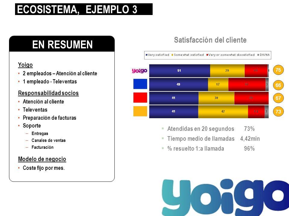 Yoigo 2 empleados – Atención al cliente 1 empleado - Televentas Responsabilidad socios Atención al cliente Televentas Preparación de facturas Soporte