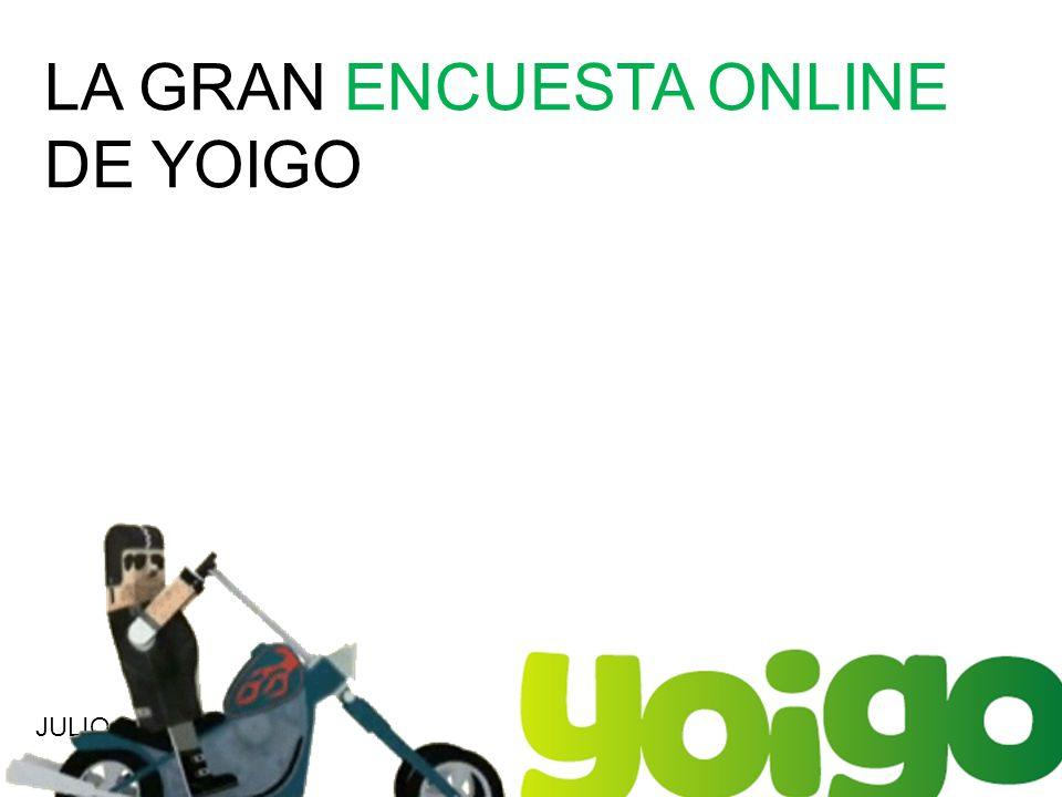LA GRAN ENCUESTA ONLINE DE YOIGO JULIO 2011