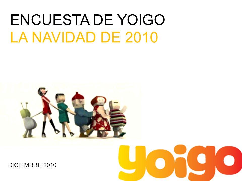 ENCUESTA DE YOIGO LA NAVIDAD DE 2010 DICIEMBRE 2010
