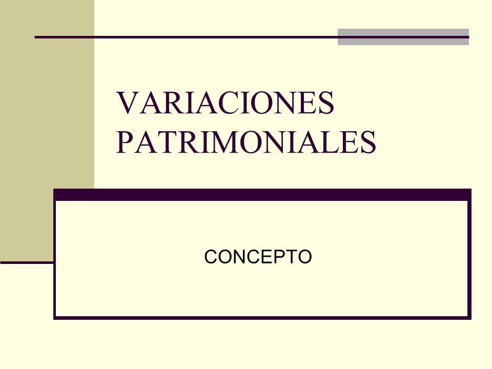 VARIACIONES PATRIMONIALES CONCEPTO