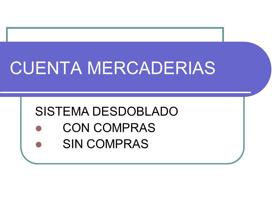 CUENTA MERCADERIAS SISTEMA DESDOBLADO CON COMPRAS SIN COMPRAS