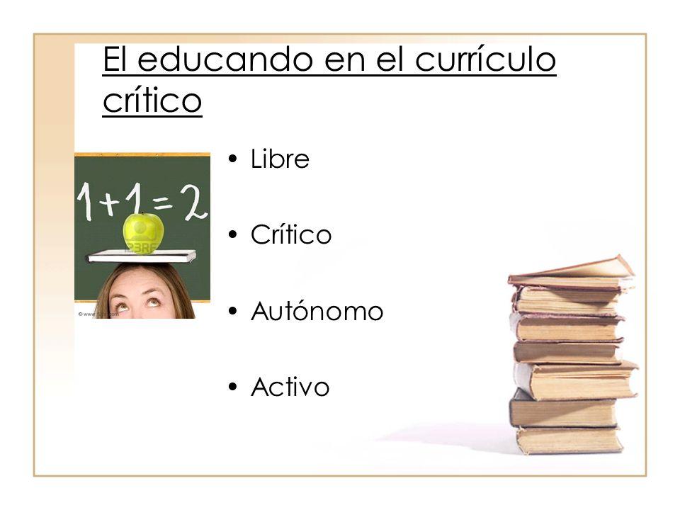 …por tanto el currículo crítico Mueve el proceso de investigación y conocimiento, en el sentido de acción social de los sujetos.