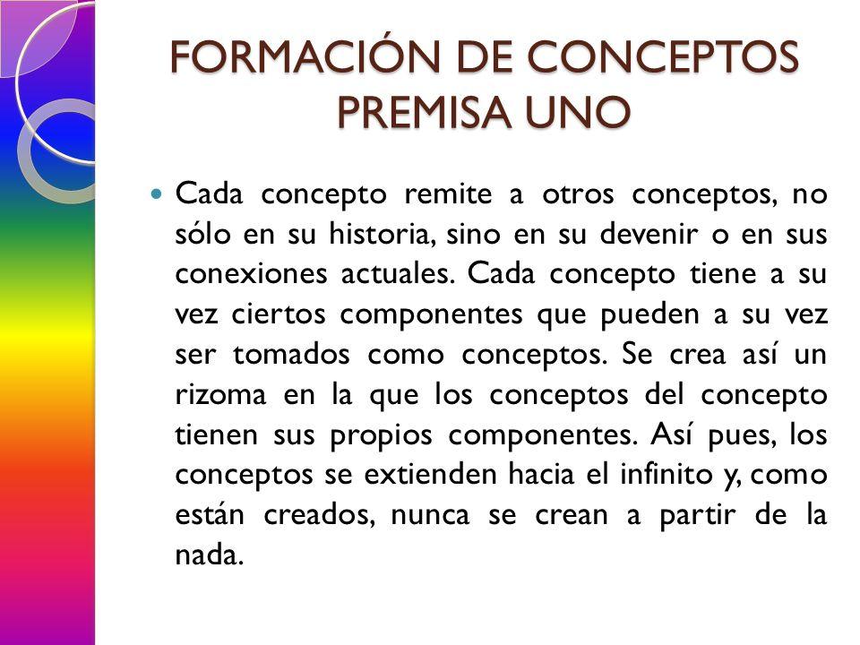 Cada concepto remite a otros conceptos, no sólo en su historia, sino en su devenir o en sus conexiones actuales. Cada concepto tiene a su vez ciertos