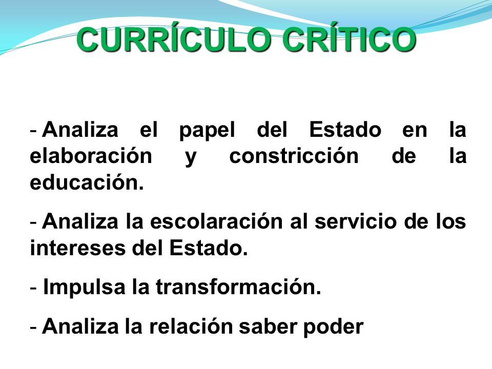 - Analiza el papel del Estado en la elaboración y constricción de la educación. - Analiza la escolaración al servicio de los intereses del Estado. - I