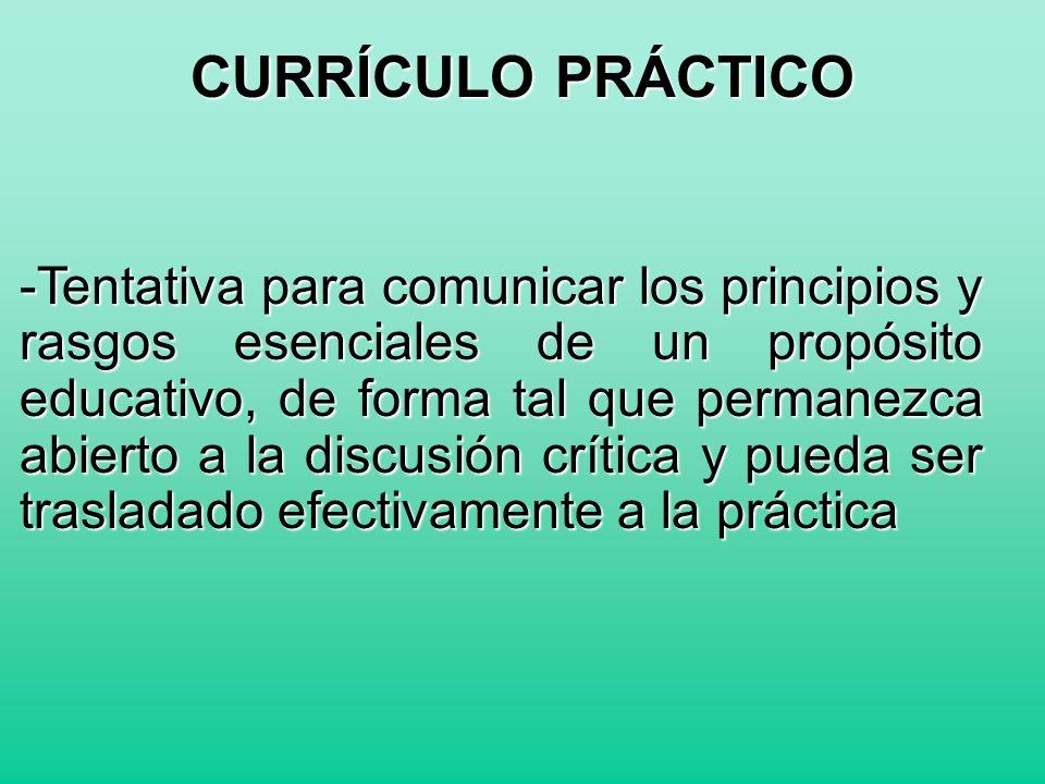 - Incluye en la dinámica curricular valoraciones de carácter moral, social y político.